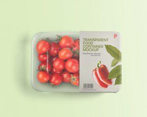 упаковка еды контейнер мокап прозрачный этикетка дизайн пример mockup скачать бесплатно free