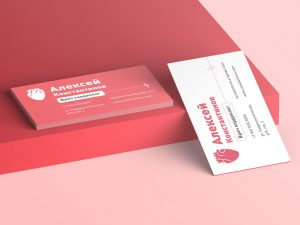 шаблон визитки врача кардиолога скачать темплейт бесплатно красная 90 на 60