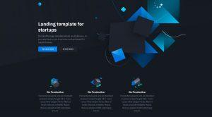 HTML шаблон IT компании стартапа технологической компании лендинг landing page бесплатно скачать
