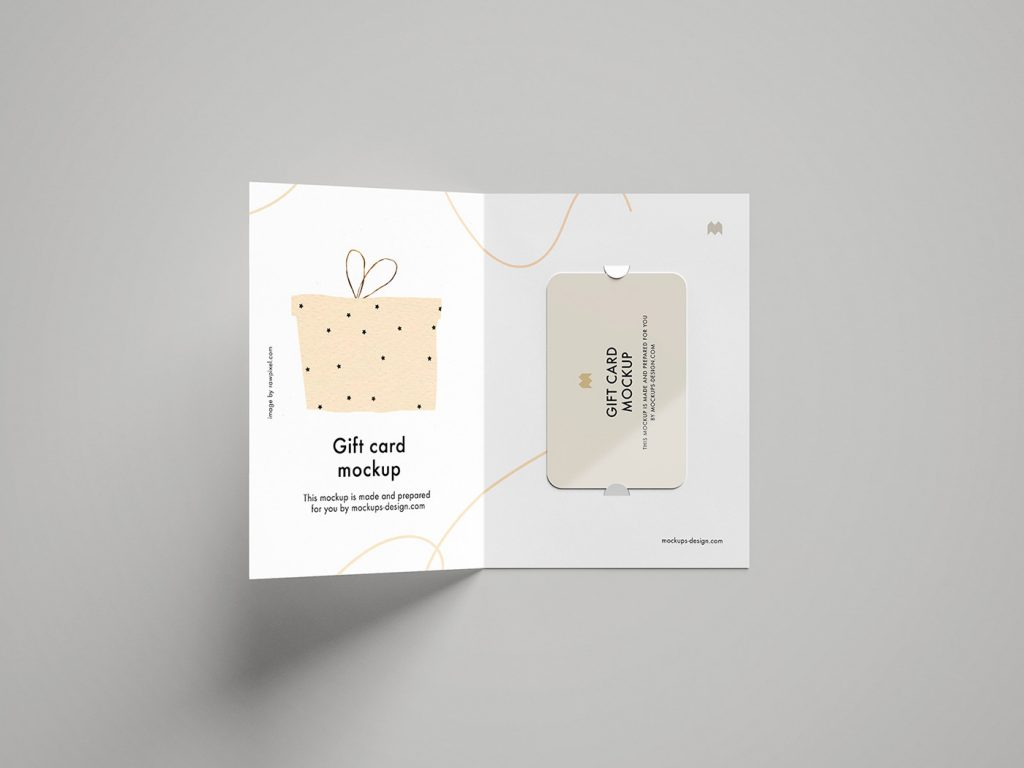 мокап открытки бесплатный скачать с сретификатом и подарочной картой пример, онлайн psd photoshop mockup 1