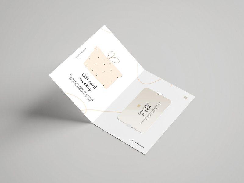 мокап открытки бесплатный скачать с сретификатом и подарочной картой пример, онлайн psd photoshop mockup