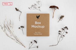 Мокап коробки, упаковки, квадаратная, скачать бесплатно, вид сверху, mockup free
