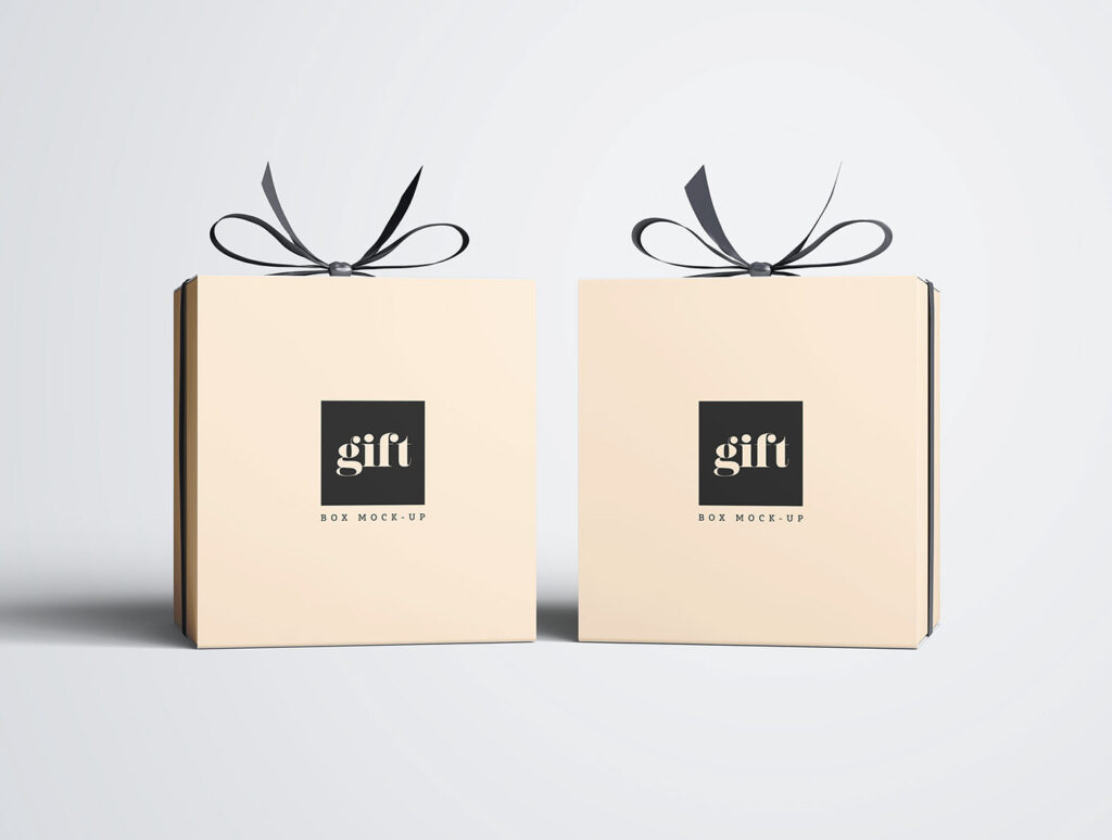 мокап коробки для подарков фотошоп скачать бесплатно